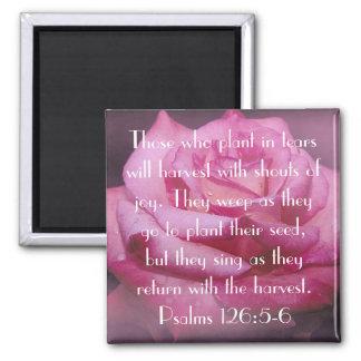 126:5 del salmo - el verso de 6 biblias subió el imán cuadrado