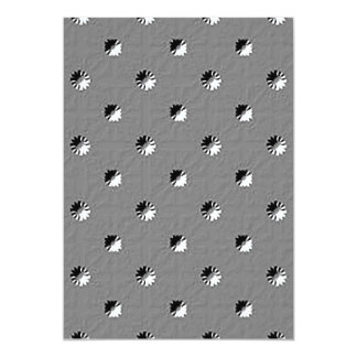 """126 EMBOSSED BLACK WHITE GREY GRAY DOTS BUSINESS T 5"""" X 7"""" INVITATION CARD"""