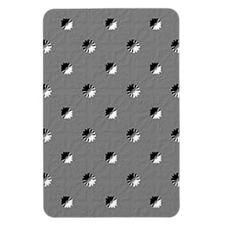 126 EMBOSSED BLACK WHITE GREY GRAY DOTS BUSINESS T MAGNET