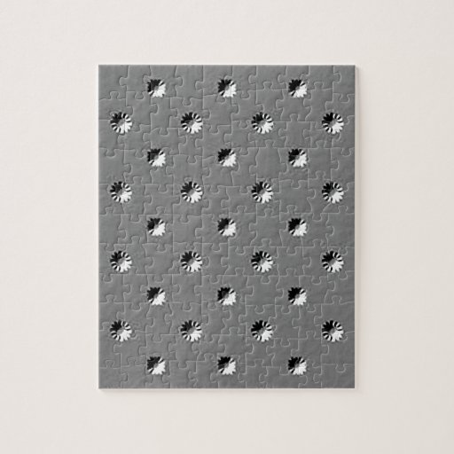 126 EMBOSSED BLACK WHITE GREY GRAY DOTS BUSINESS T PUZZLE