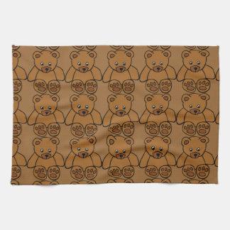 12703-simple-teddy-bear-vector BROWN TEDDY BEAR T Hand Towels