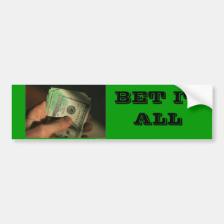127857~Hand-Holds-a-Wad-of-American-Hundred-Dol... Car Bumper Sticker