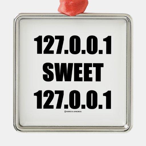 127.0.0.1 127.0.0.1 dulce (friki casero dulce adorno navideño cuadrado de metal