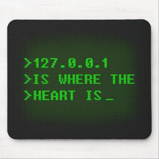 127.0.0.1 es donde está el corazón alfombrilla de raton