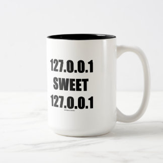 127.0.0.1 Sweet 127.0.0.1 (Home Sweet Home Geek) Two-Tone Coffee Mug