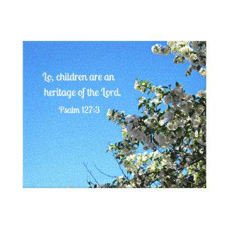 127:3 del salmo lona envuelta para galerias
