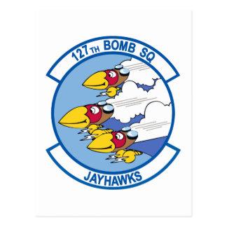 127o Escuadrilla Jayhawks de la bomba Tarjeta Postal