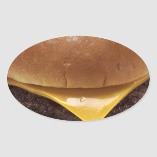 1280px-Cheeseburger.png Oval Sticker