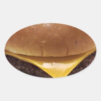 1280px-Cheeseburger.png Pegatina Ovalada