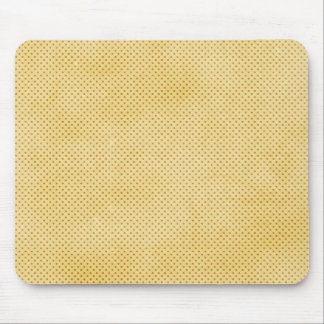 1281pd19 YELLOW ORANGE DISTRESSED POLKA-DOTS PATTE Mouse Pad