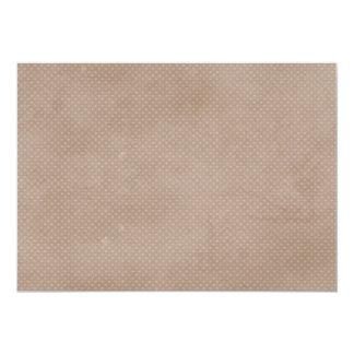 1282 BROWN NEUTRAL TANS DISTRESSED POLKA-DOTS PATT CARD