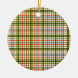 1282 COLORFUL PLAID PATTERN TEXTURE TEMPLATE BACKG CHRISTMAS TREE ORNAMENT