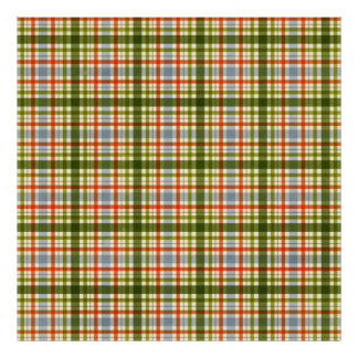 1282 COLORFUL PLAID PATTERN TEXTURE TEMPLATE BACKG POSTER