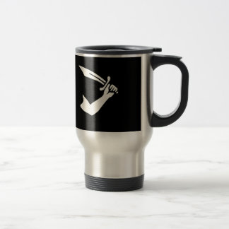 12923-pirate-thomas-tew-vector PIRATE SWORD MACHET Travel Mug