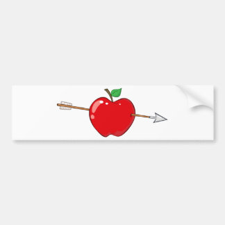 12935_RF_Clipart_Illustration_Arrow RED APPLE ARRO Bumper Stickers