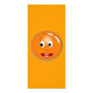 1299450451_Vector ORANGE SMILING FACE CARTOON ICON Full Color Rack Card