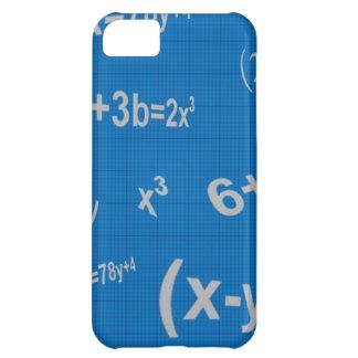 129 BLUE MATHMATICAL EQUATIONS MATH ALGEBRA EDUCAT iPhone 5C CASE