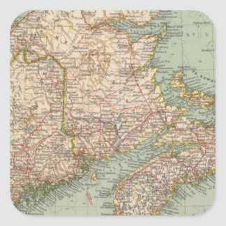 129 Maine, Nueva Escocia, Nuevo Brunswick, Quebec Pegatina Cuadrada