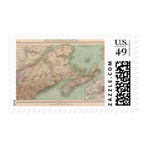 129 Maine, Nueva Escocia, Nuevo Brunswick, Quebec Sellos