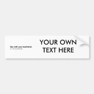129 personas tienen gusto de su novio etiqueta de parachoque