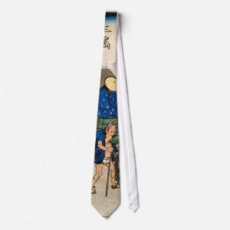 12. 三島宿, 広重 Mishima-juku, Hiroshige, Ukiyo-e Corbatas
