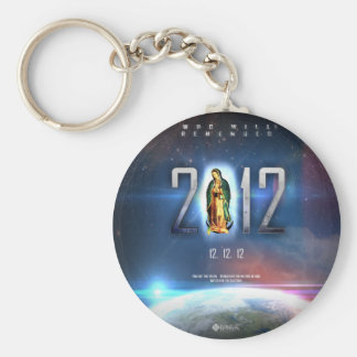 12.12.12 Celebrating Our Lady of Guadalupe Basic Round Button Keychain