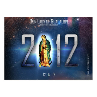 12.12.12 Celebrating Our Lady of Guadalupe Large Business Card