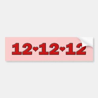 12.12.12 Hearts Bumper Sticker