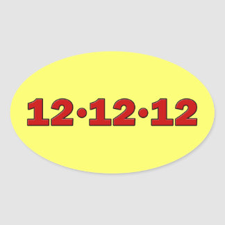 12-12-12 OVAL STICKER