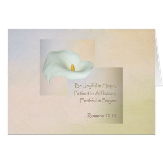 12:12 cristiano de los romanos del ~ del arte de tarjeta de felicitación