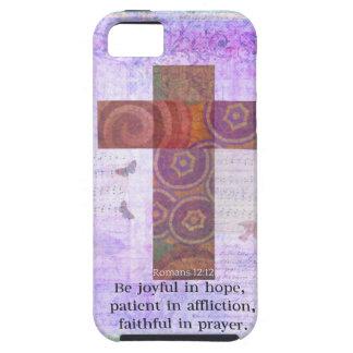 12:12 de los romanos - sea alegre en la esperanza, iPhone 5 funda