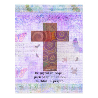 12:12 de los romanos - sea alegre en la esperanza, postal