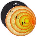 12/13/14 botón anaranjado colosal del agolpamiento pin