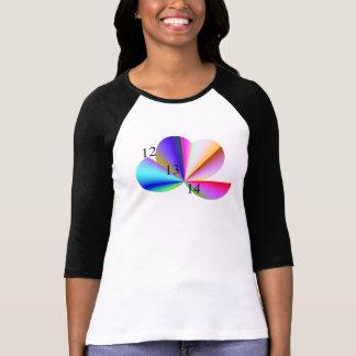 12 13 14 camiseta de los pétalos de la flor del