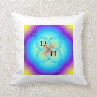 12/13/14 Clover Leaf Rainbow Throw Throw Pillows