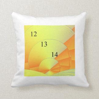12/13/14 Digital Sunrise Throw Pillow