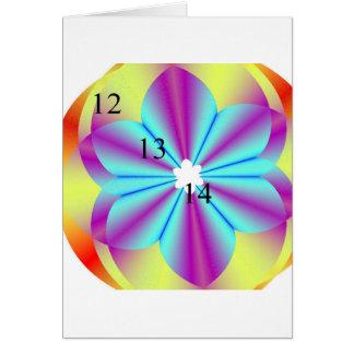 12/13/14 Fractal Flower Greeting Card