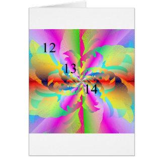 12/13/14 Fractal Rainbow Greeting Card