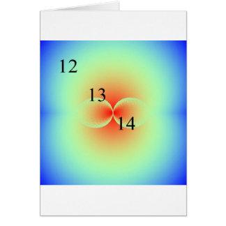 12/13/14 Kissing Spheres Greeting Card