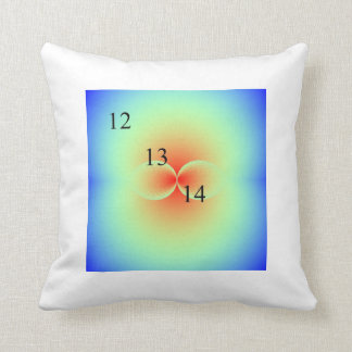 12/13/14 Kissing Spheres Rainbow Throw Pillow