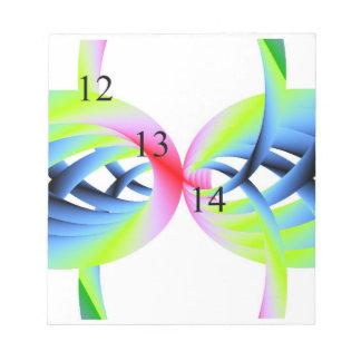 12/13/14 libreta de los espaguetis del arco iris blocs de papel