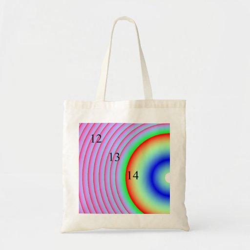12/13/14 Radioactive Rainbow Tote Bag