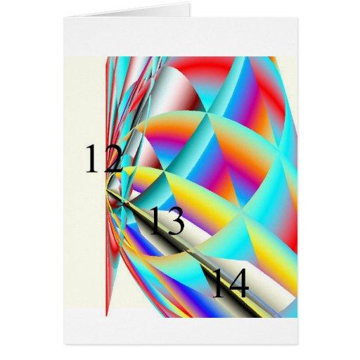 12-13-14 Rainbow Blast Greeting Card