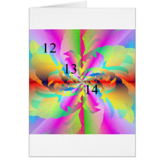 12/13/14 Rainbow Fire Flower Greeting Card
