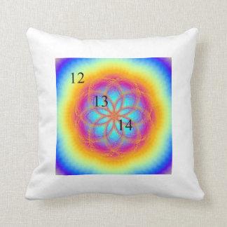12/13/14 Rainbow Lotus Blossom Throw Pillow
