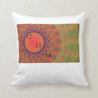 12/13/14 Rainbow Ring Throw Throw Pillow