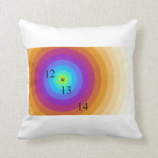 12/13/14 Rainbow Rings Throw Pillow