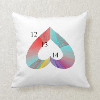 12/13/14 Rainbow Throw Pillow