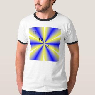 12/13/14 Ringer T-Shirt, White/Black T-Shirt