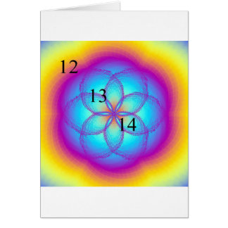 12/13/14 Stained Glass Lotus Blossom Card